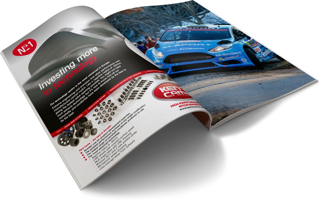Kent Cams advertising in motor industry magazines – advanced technology