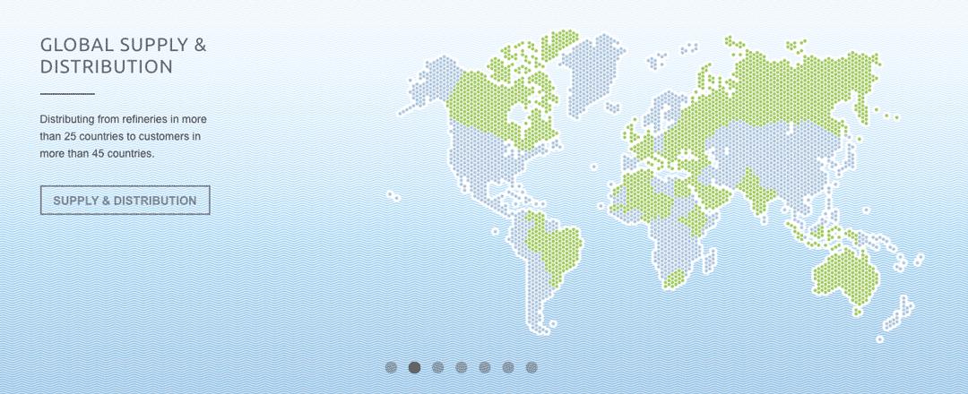 Shamrock Oils website Base Oils Global Supply and Distribution